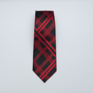 Black with Red Lattice design Necktie